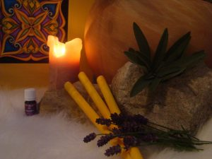 therapy with candles Saraca´s Essence Sun